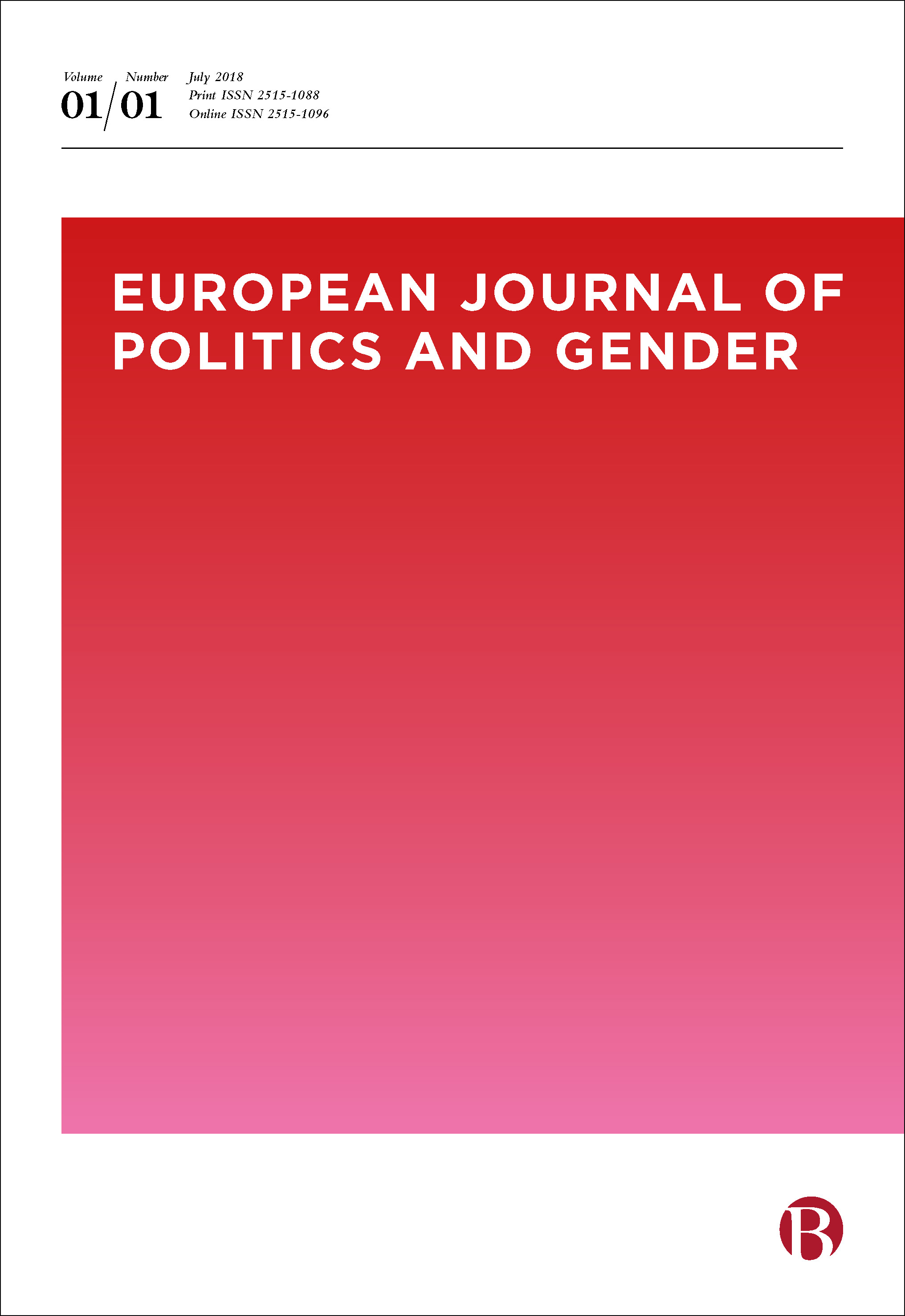 European journal of politics and gender cover